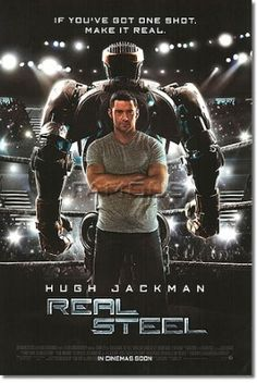 Free Movies Online: Real Steel Real Steel is a 2011 American science fiction sports drama film starring Hugh Jackman and Dakota Goyo, co-produced and directed by Shawn Levy and released by DreamWorks Pictures based on the 1956 shor Hugh Jackman, Love Movie, Movie Tv, Movies Showing, Movies And Tv Shows, X Men Film, Oscar 2012, Hugh Holland, Movie Posters
