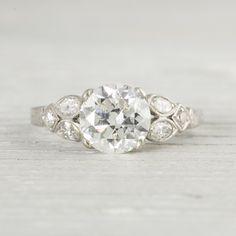 1.63 Carat Vintage Art Deco Engagement Ring   Circa 1920   Erstwhile Jewelry Co.