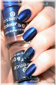 Essence old Colour 76 Hard To Resist and 78 Blue Addicted by QueenMiSeRy @ miserylovesblue.blogspot.it