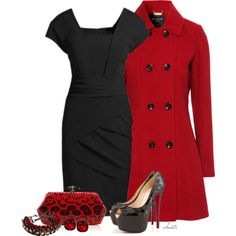 Black and Red, created by christa72 on Polyvore