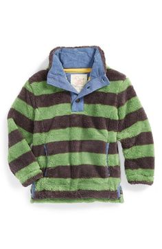 Free shipping and returns on Mini Boden Half Placket Fleece Pullover (Toddler Boys, Little Boys & Big Boys) at Nordstrom.com. A classic rugby-stripe pullover gets even cooler—er, warmer—when crafted from supersoft, plush fleece. It's perfect for keeping him comfy on those brisk fall days when he's kicking around the soccer ball.