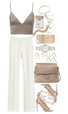 """""""Untitled #8045"""" by nikka-phillips ❤ liked on Polyvore featuring Chloé, ASOS, Mulberry, Burberry, Marc by Marc Jacobs, Aquazzura, Anne Klein, Bella Freud and Identity"""