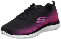Skechers Flex Appeal 2.0 Ombre Womens Sneakers Black Hot Pink 8.5 Review  Hot Pink Shoes dfad814043dbf
