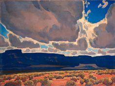 Maynard Dixon (1875-1946), Mesas in Shadows, 1926, oil on canvas