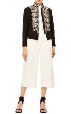 Freya Pompadour Embroidered Jacket by VILSHENKO Now Available on Moda Operandi