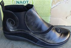 NAOT WOMENS CHI BOOTS - BLACK MADRAS/BLACK SUEDE - 7(38) #Naot #FashionAnkle
