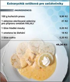 Czech Recipes, Snack Recipes, Snacks, Poultry, Cantaloupe, Chicken Recipes, Oatmeal, Food And Drink, Meals