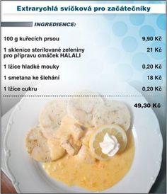 Svíčková pro začátečníky Czech Recipes, Snack Recipes, Snacks, Poultry, Cantaloupe, Chicken Recipes, Oatmeal, Food And Drink, Meals
