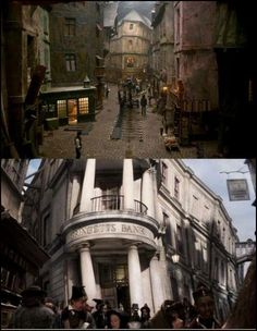 Le Mes was filmed on Diagon Alley XD (i so knew it!!!)