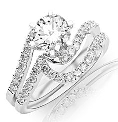 Prong-set Round Diamonds Engagement Ring (ring « Holiday Adds