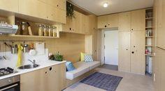 Este departamento muta para que todo quepa en 30 m2