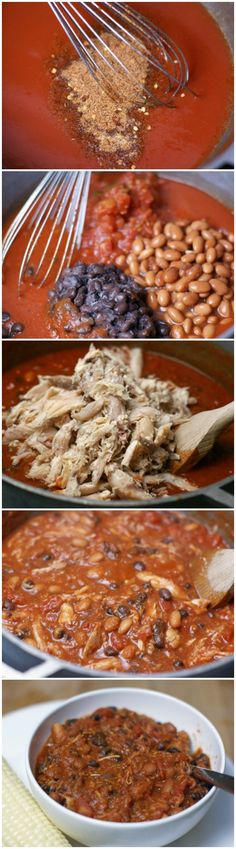 Chicken Enchilada Chili ~ 31 Days of Chili, Soups & Stews - Quick Hamburger Recipes, Quick Crockpot Meals, Quick Vegetarian Meals, Quick Weeknight Meals, Quick Healthy Meals, Quick Dinner Recipes, Crockpot Recipes, Delicious Meals, Easy Meals