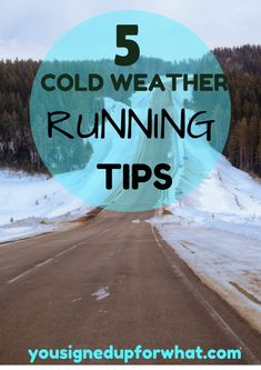 5 Cold Weather Running Tips - tips for running, working out, exercise, fitness and doing your outdoor workouts in the colder weather of winter!