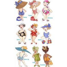 bathing beauties machine embroidery design - Google Search