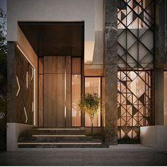 New Exterior Architecture Facade Entrance 42 Ideas # Architecture Design, Facade Design, Door Design, Residential Architecture, Entrance Design, House Entrance, Entrance Ideas, Modern Villa Design, Modern Ceiling Design