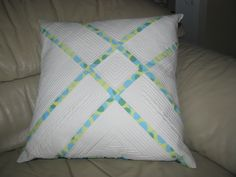 Modern Quilted Pillow