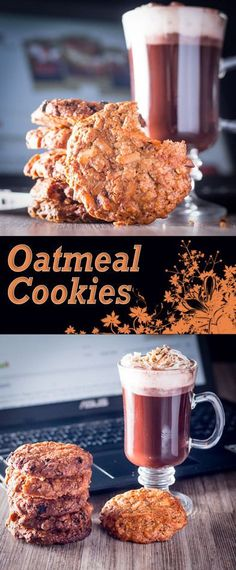 Crunchy on the outside, soft and chewy on the inside these Oatmeal Cookies are heady with the aromas of nutmeg and cinnamon and coconut and raisins to boot! #cookies #biscuit #oats #oatmealcookies #oatmeal #recipe