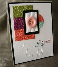Stampin' Up! card from Butternut Sage Design...I really like the embossed panels on this card.