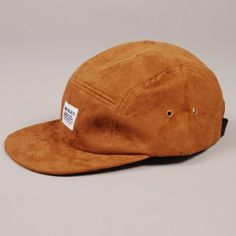 c9c195f10f8a1 Norse Projects 5 Panel Suede Cap - Camel