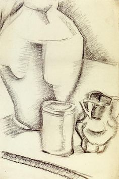 Still Life with Goblet - Juan Gris - The Athenaeum Pencil Drawing Images, Roof Paint, Francis Picabia, Georges Braque, Spanish Artists, A Level Art, Art Database, Pablo Picasso, Art Blog