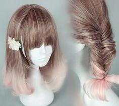 Harajuku students cosplay lolita wigs