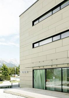 fibre c glassfibre reinforced concrete panels www.at - Hotel und Spa am See Cladding Materials, Reinforced Concrete, Building Materials, Multi Story Building, Architecture, Outdoor Decor, Projects, Design, Home Decor
