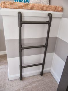 metal ladder wall mounted - Google Search