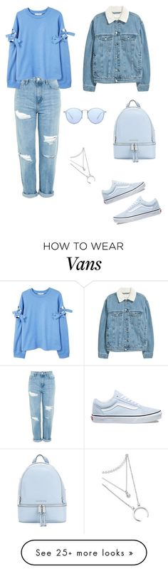 """""""Untitled #296"""" by dili-yudcel on Polyvore featuring Topshop, MANGO, Vans, MICHAEL Michael Kors and Ray-Ban #polyvoreoutfits"""