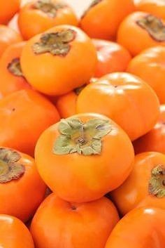 """Persimmons are bright, glossy orange gems that are ripe in the fall. They are an ancient fruit from Japan that is actually a berry. The genus name for the persimmon means """"Fruit of the Gods&… Fruit And Veg, Fruits And Vegetables, Fresh Fruit, Photo Fruit, Persimmon Recipes, Persimmon Fruit, Orange Fruit, Fruit Photography, Beautiful Fruits"""