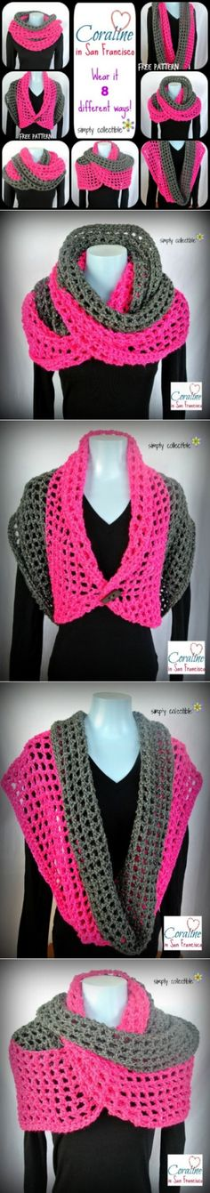 Coraline in San Francisco Cowl Wrap - free crochet pattern • Simply Collectible