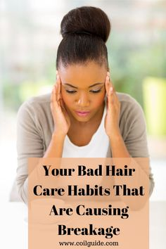 What Are Your Hair Care Habits That Cause Breakage? Reasons why you aren't retaining length. Daily habits that are bad for natural hair growth. #naturalhairgrowth #lengthretention #retaininglength #longhair How To Grow Your Hair Faster, How To Grow Natural Hair, Natural Beauty Tips, Diy Beauty, Beauty Hacks, Natural Hair Regimen, Natural Hair Growth, Natural Hair Styles, Hair Health And Beauty