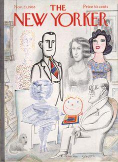 ¤ Saul Steinberg cover of The New Yorker. 1968, 23 november