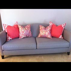 Coral Deco and Berry Fleur Chinoise Pillows
