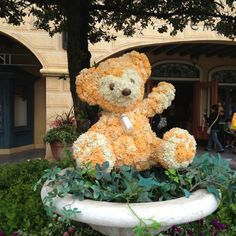 So cute! Duffy topiary at Tokyo Disney Sea