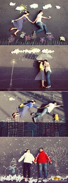 Sidewalk Chalk photography. Cute