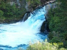 Huka Falls, Taupo, New Zealand-huge volume of water going throught a 6m wide channel....ground shaking and mesmorising