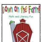 Fun on the Farm Math and Literacy Activities by Deanna Jump - This unit is full of farm fun!  The unit includes:  An original story written by me  Farm animal T-chart  Farm animal comparison chart (with direction...