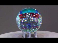 Chroma Spherix - Glass Sculpture by Jack Storms Jack Storms Glass, Mosaic Glass, Glass Art, Dichroic Glass, Glass Design, Diy Art, Mosaics, Snow Globes, Sculpting