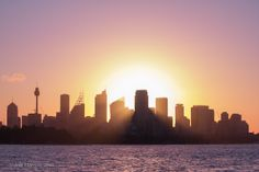 """Sydney Evening"" Captured from a sail boat in Sydney harbor. Camera Canon EOS 550D, f/8, exposure 1/320 sec, ISO-100, focal length 60 mm."