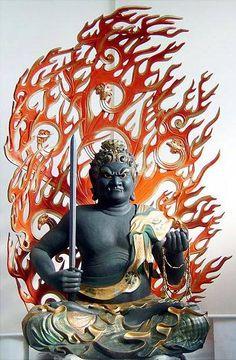 Acalanatha fudo - Shingon Buddhism - Wikipedia, the free encyclopedia Buddhist Wisdom, Tibetan Buddhism, Buddhist Art, Japanese Buddhism, Japanese Art, Buddhist Philosophy, Spiritual Images, Gautama Buddha, Art Sculpture