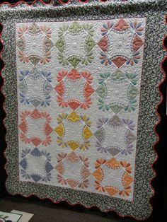 Denver Quilt Festival 2011  Ellen Palmer Englewood,CO  Machine Pieced, Appliqued, and Quilted. Original Design