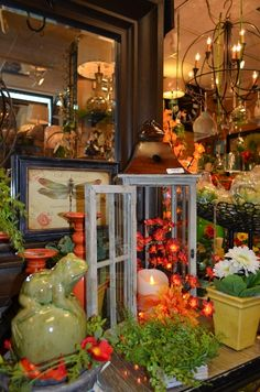 Orange is a big color this season.  From candle sticks to lit stems and silk flowers, we are ready to help you bring some orange to your décor!