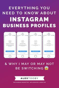 Everything you need to know about Instagram Business Profiles & why I, and…