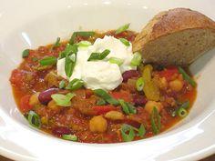 crockpot healthy veggie chili