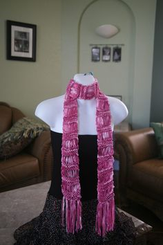 pink ribbon scarf