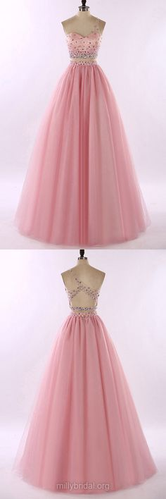 Ball Gowns, Two Piece Prom Dresses, Pink Prom Dresses, Designer Prom Dresses, Princess One Shoulder Prom Gowns