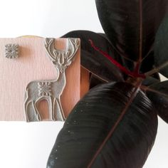 Christmas deer stamps on sale in VISUshop - handmade item with natural beech wood designed by VISU.visualplayground / Hungary