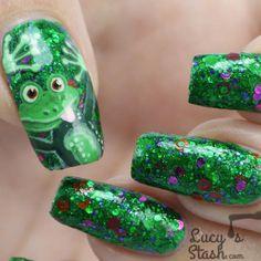 Nail Art Cheeky Frog Nail Art design