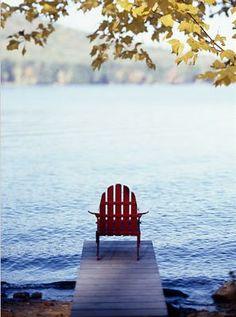 adirondack, water, seaside blues, a dock, fresh air ...bliss xo