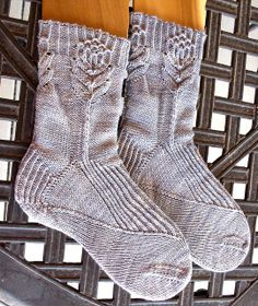 Artichoke socks by Janel Laidman... don't knit many socks these days... but…